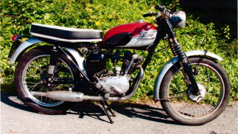 Dave Young's first motorbike